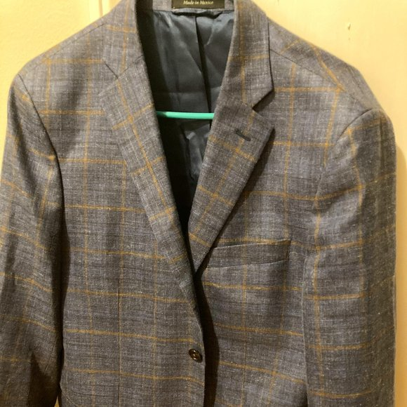 Lauren Men's Windowpane Classic Blazer 40R